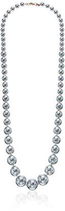 Carolee Gray Rose Graduated Pearl Strand Necklace
