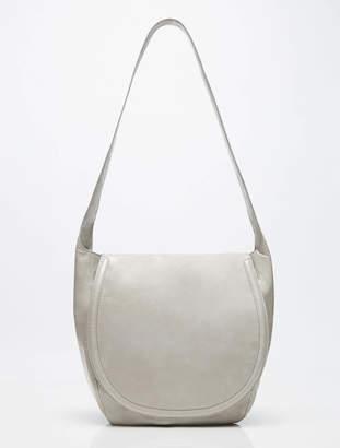 Halston Dyan Glazed Leather Lg Messenger