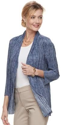 Dana Buchman Women's Pleated Open-Front Cardigan