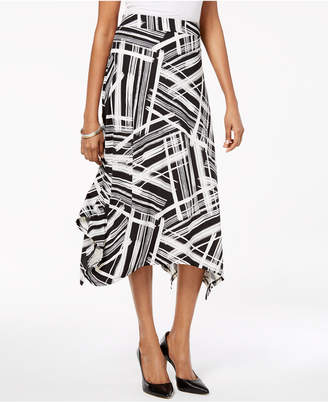 JM Collection Handkerchief-Hem Maxi Skirt