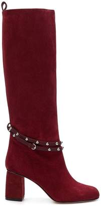 RED Valentino RED(V) Flower Puzzle knee-length boots