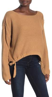 Lumiere Side Knot Boatneck Sweater