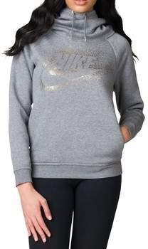 Sweatshirt Rally Hoodie Metallic Damen Sweatshirt Grau