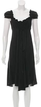 Miu Miu Short Sleeve Silk Dress