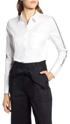 Halogen Stripe Sleeve Shirt