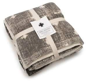 Nordic Drake General Store Faux Shearling Fleece-Lined Cotton Throw