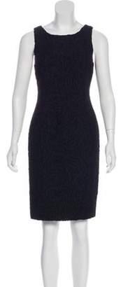 Fendi Mini Sheath Dress Black Mini Sheath Dress