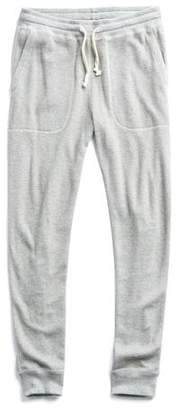 Todd Snyder RICE slim THERMAL SWEATPANT in GREY MIX