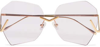 Burton For Art's Sake Square-frame Gold-tone Sunglasses