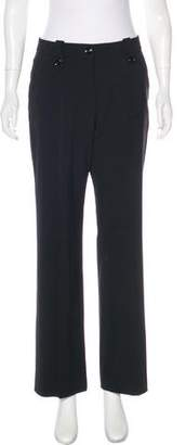 Saint Laurent High-Rise Wide-Leg Pants