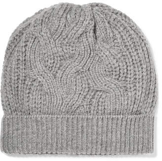 Johnstons of Elgin Cable-knit Cashmere Beanie - Gray