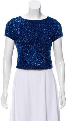 Alice + Olivia Casual Sequin Top