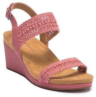 Lucky Brand Koenn Platform Wedge Crochet Sandal