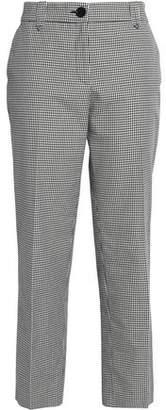 Claudie Pierlot Checked Cotton Straight-Leg Pants