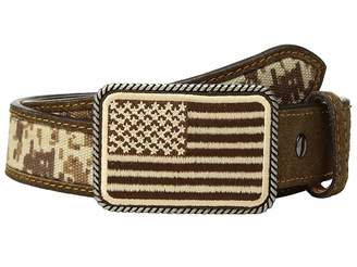 Ariat Sport Patriot w/ USA Flag Buckle Belt (Little Kids/Big Kids)