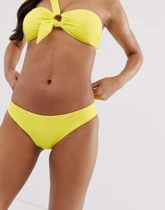 Seafolly classic hipster bikini bottom in neon lime