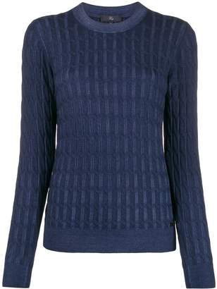 Fay cable-knit slim-fit jumper