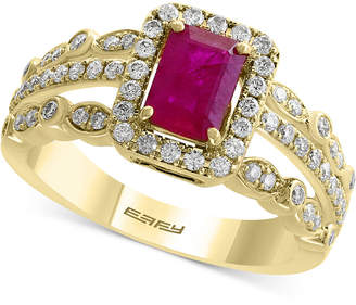 Effy Amore by Certified Ruby (1 ct. t.w.) and Diamond (1/2 ct. t.w.) Ring in 14k Gold