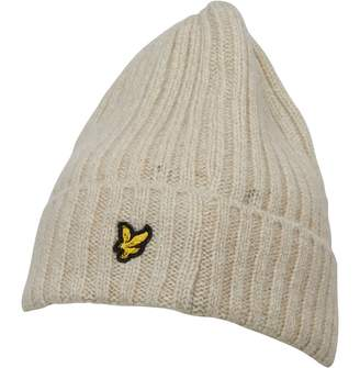Vintage Mens Mouline Beanie Seashell White