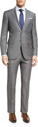 Ermenegildo Zegna Plaid WOOL Two-Piece Suit, Light Gray