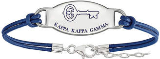 FINE JEWELRY Kappa Kappa Gamma Enameled Sterling Silver Oval Leather Bracelet