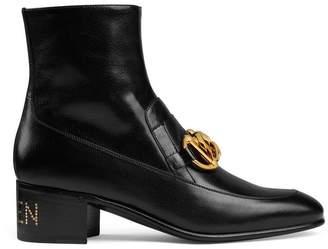 Gucci Women's leather Horsebit chain boot