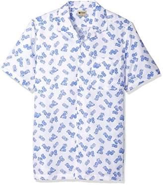 Haggar Men's Big and Tall Short Sleeve Texture Printed Shirts