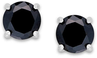 Giani Bernini Black Cubic Zirconia Stud Earrings (2 ct. t.w.) in Sterling Silver, Created for Macy's