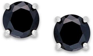 Giani Bernini Black Cubic Zirconia Stud Earrings (2 ct. t.w.) in Sterling Silver