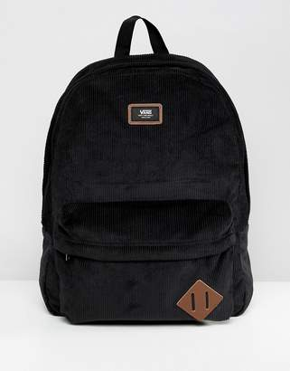 Vans Old Skool II corduroy backpack in black VN000ONIZ471
