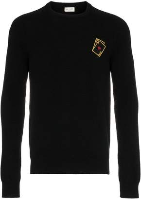 Saint Laurent playing cards cashmere jumper