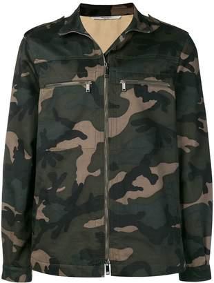 Valentino camouflage glitter love print jacket