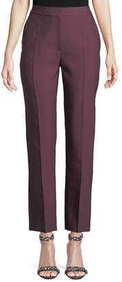 Roksanda High-Rise Straight-Leg Wool/Silk Pants