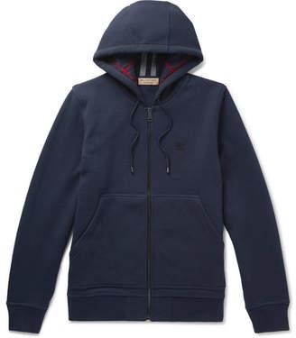Burberry Cotton-Blend Jersey Zip-Up Hoodie