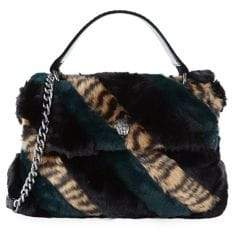 Kurt Geiger London Large Soho Striped Faux Fur Shoulder Bag