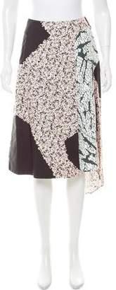 Cédric Charlier Printed Midi Skirt w/ Tags