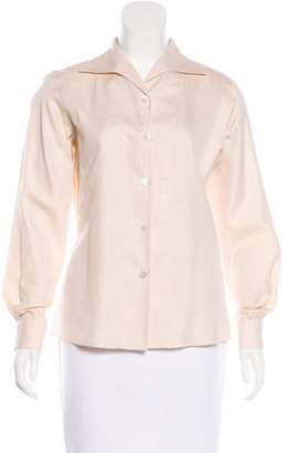 Zanella Long Sleeve Button-Up Top