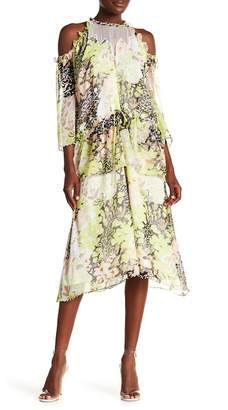 Opening Ceremony Floral Pearl Tiered Dress