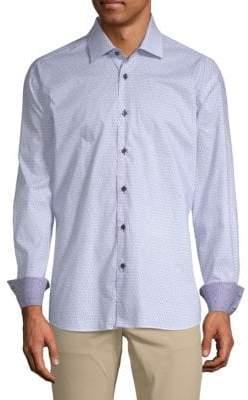 Bicycle Cotton Button-Down Shirt