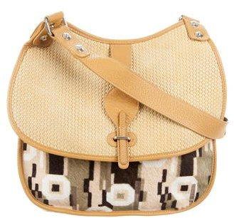 Balenciaga Balenciaga Ponyhair & Woven Leather Bag