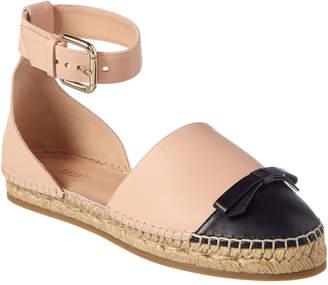 RED Valentino Ankle Strap Leather Espadrille