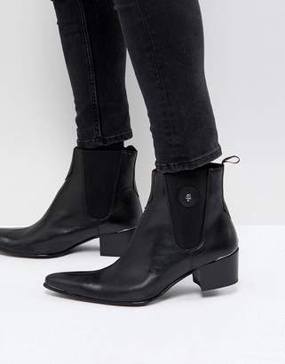 Jeffery West Sylvian Boots In Black Leather