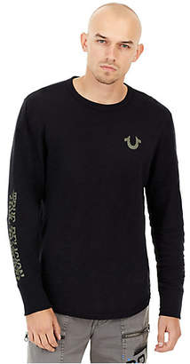 True Religion MENS DISTORTED GRAPHIC LONG SLEEVE SHIRT