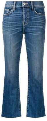 Current/Elliott straight-leg cropped jeans