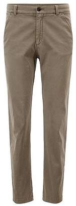 HUGO BOSS Regular-fit chinos in satin-touch stretch cotton
