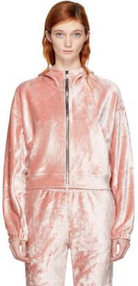 Nike Pink Velour Essentials Hoodie