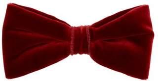 Etro Cotton Blend Velvet Bow Tie - Mens - Orange Multi