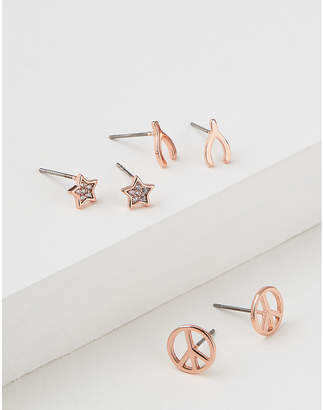 American Eagle Peace Sign Earring 3-Pack