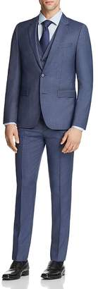 HUGO Astian/Hets Slim Fit Tonal Micro Check 3-Piece Suit