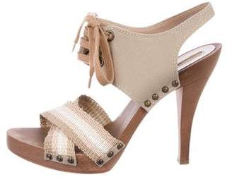 Stella McCartney Canvas Lace-Up Sandals